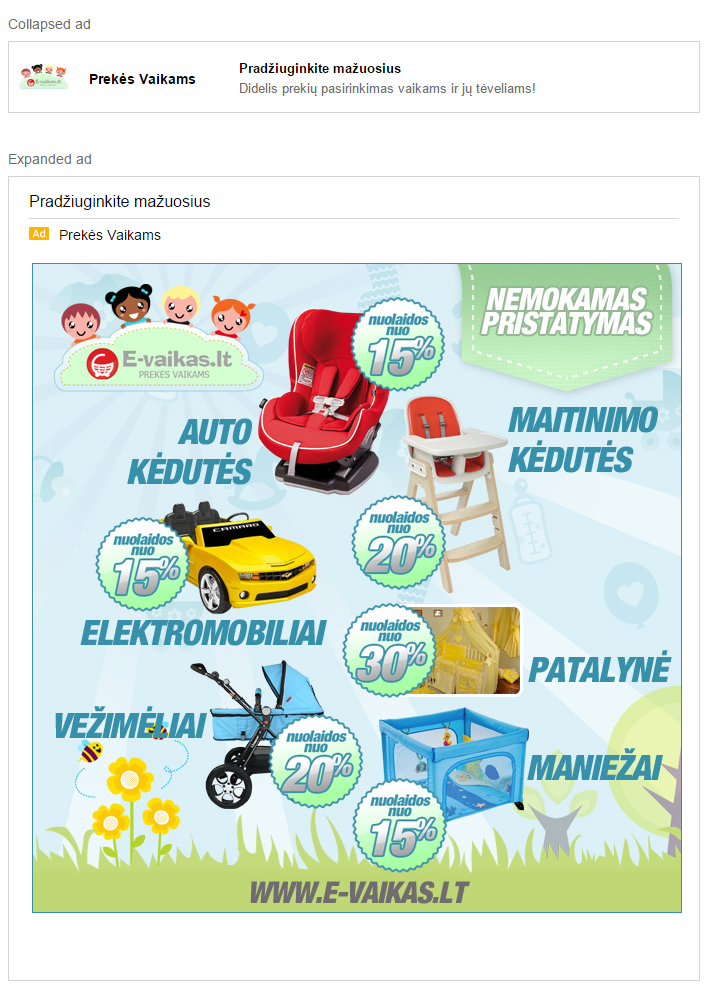 Gmail reklama GSP